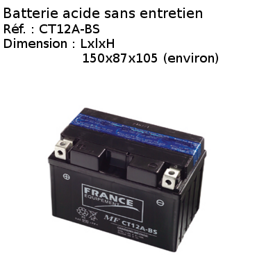 Batterie acide sans entretien CT12A-BS